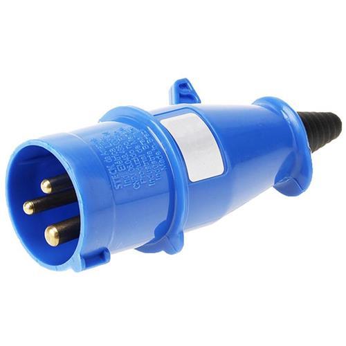 Plugue 2P+T 32A 200/250V 6H Azul - N-3276 - STECK