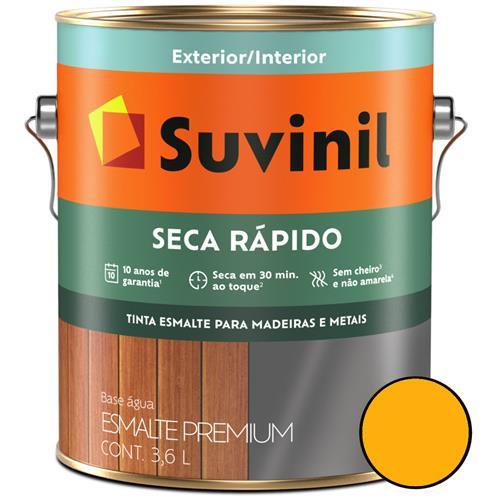 Tinta Esmalte Brilhante Seca Rápido 3,6 Litros Amarelo Ouro - 53349365 - SUVINIL